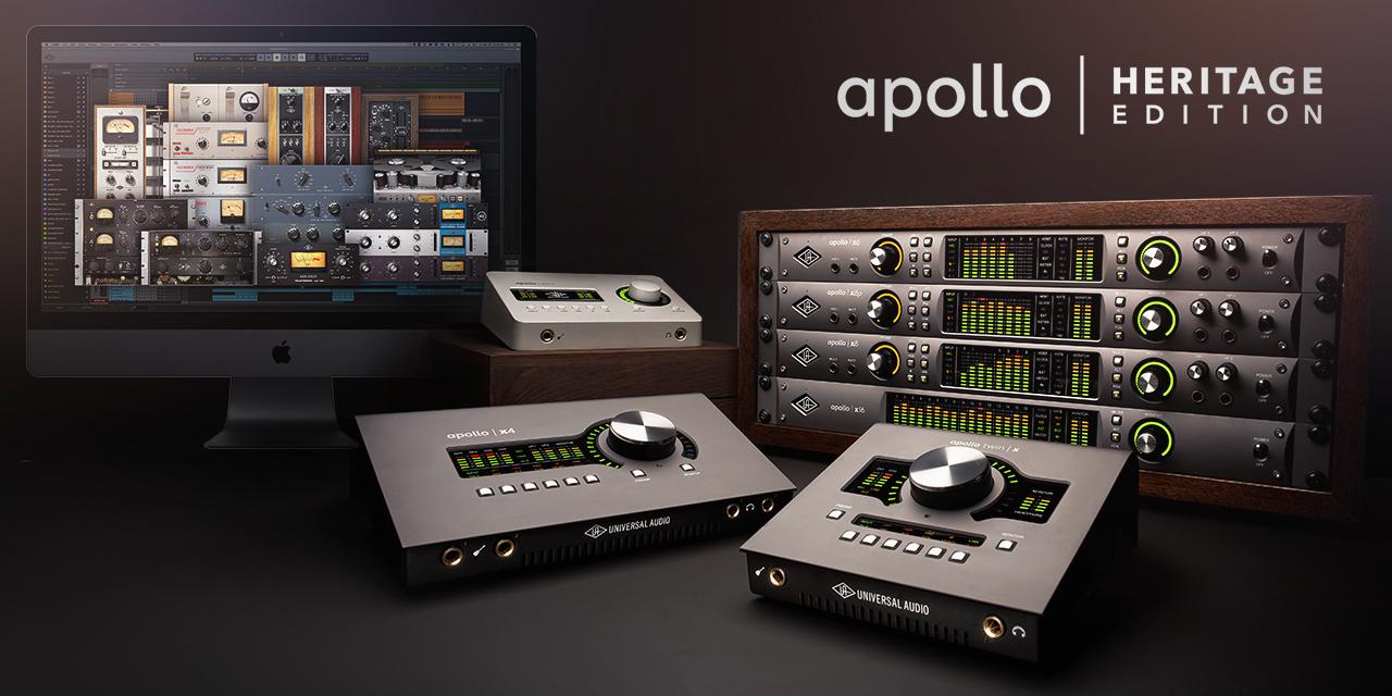 """<h2 class=""""title"""">Universal Audio Apollo TwinやSoloシリーズなどのデスクトップインターフェイスがHeritage Editionとしてプラグインが増強されてリニューアル!</h2>"""