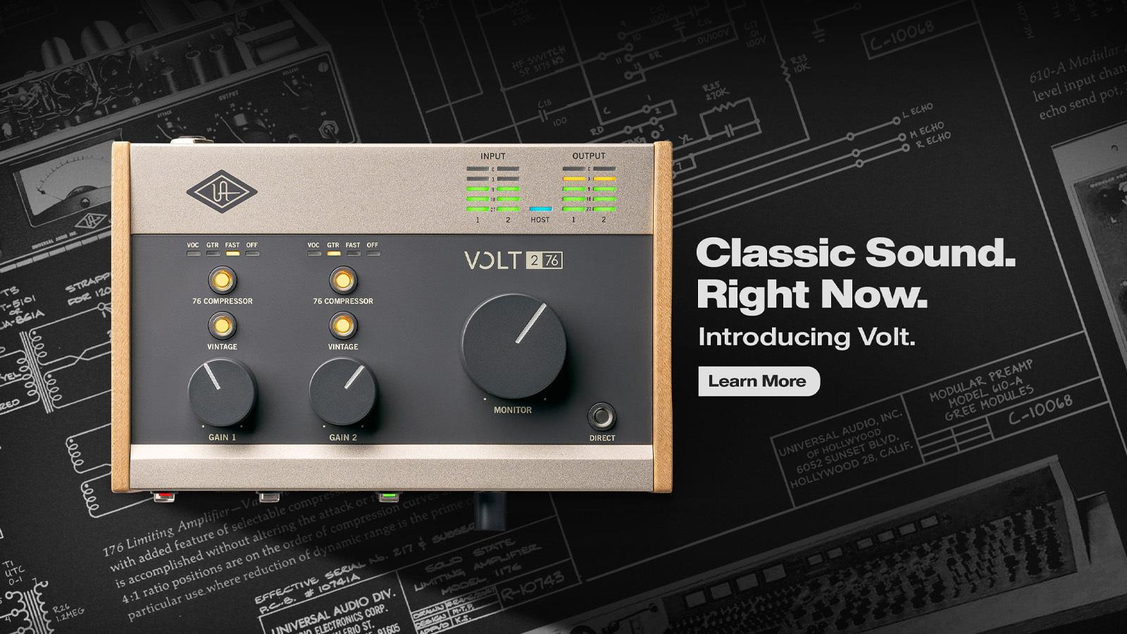"""<h2 class=""""title"""">Universal Audioの技術がふんだんに盛り込まれた¥17,000からのオーディオインターフェイス新シリーズ「Volt」各機種を発表!</h2>"""